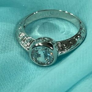NWOT Sterling silver/cz ring